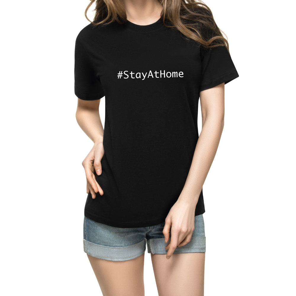 Stay At Home Tshirt Frau Luxemburg